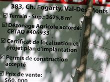 Terrain à vendre à Val-des-Monts, Outaouais, 383, Chemin  Fogarty, 18240654 - Centris