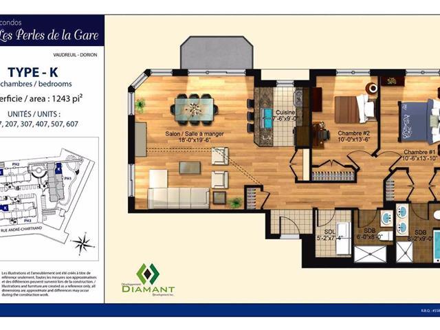 Condo / Appartement à louer à Vaudreuil-Dorion, Montérégie, 5, Rue  Édouard-Lalonde, app. 107, 16514129 - Centris.ca