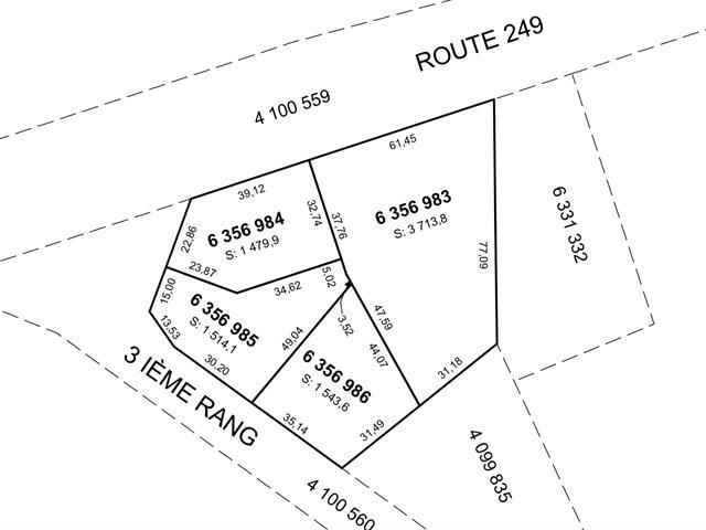 Terrain à vendre à Saint-François-Xavier-de-Brompton, Estrie, Route  249, 23813792 - Centris.ca