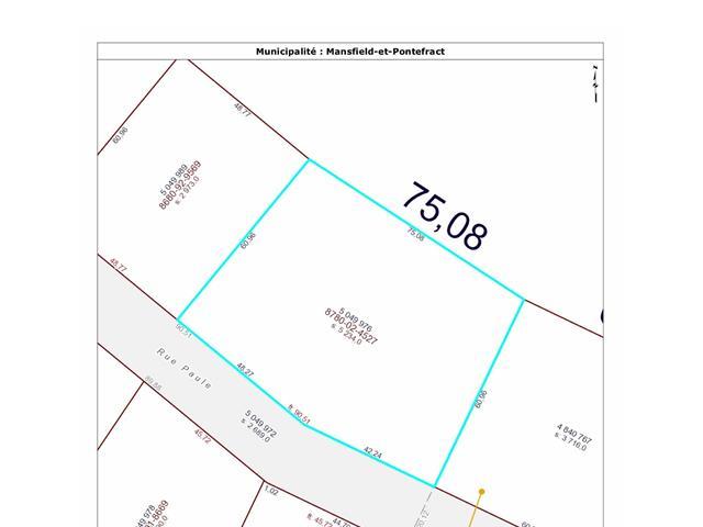 Terrain à vendre à Mansfield-et-Pontefract, Outaouais, Rue  Paule, 14592685 - Centris.ca