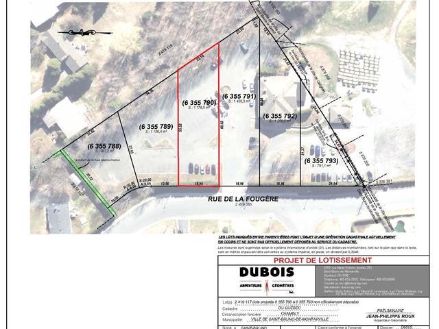 Terrain à vendre à Saint-Bruno-de-Montarville, Montérégie, Rue de la Fougère, 27703329 - Centris.ca
