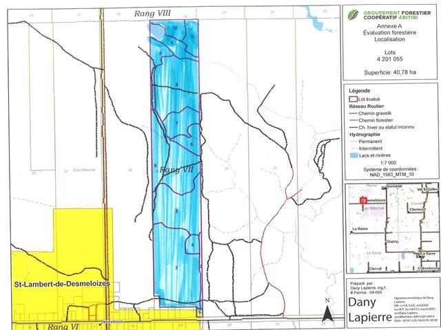 Terre à vendre à Saint-Lambert (Abitibi-Témiscamingue), Abitibi-Témiscamingue, 493, Route des 6e-et-7e-Rangs, 12892925 - Centris.ca