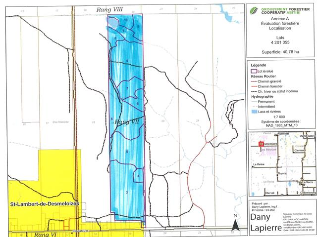 Land for sale in Saint-Lambert (Abitibi-Témiscamingue), Abitibi-Témiscamingue, 493, Route des 6e-et-7e-Rangs, 12892925 - Centris.ca