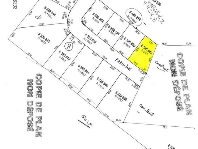 Terrain à vendre à Saguenay (La Baie), Saguenay/Lac-Saint-Jean, 6320849, Rue des Parulines, 9881162 - Centris.ca