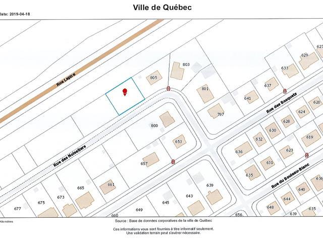 Lot for sale in Québec (La Haute-Saint-Charles), Capitale-Nationale, Rue des Noisetiers, 13130177 - Centris.ca