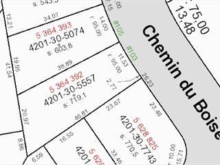 Terrain à vendre à Lac-Beauport, Capitale-Nationale, 105, Chemin du Boisé, 11027372 - Centris.ca