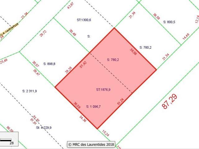 Terrain à vendre à Sainte-Lucie-des-Laurentides, Laurentides, Avenue  J.-A.-Lajeunesse, 19392503 - Centris.ca