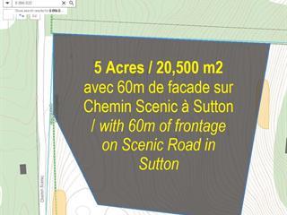 Terrain à vendre à Sutton, Montérégie, 1584W, Chemin  Scenic, 19346273 - Centris.ca