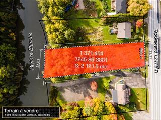 Terrain à vendre à Gatineau (Gatineau), Outaouais, 1696, boulevard  Lorrain, 21708945 - Centris.ca
