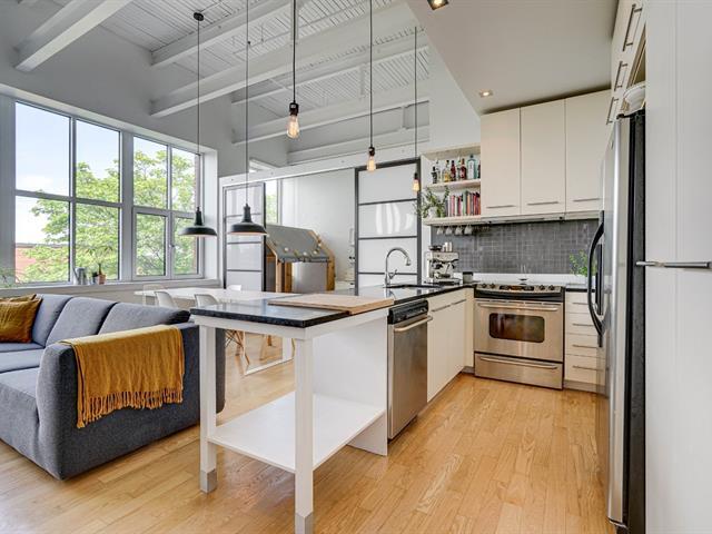 Loft / Studio à vendre à Montréal (Mercier/Hochelaga-Maisonneuve), Montréal (Île), 2600, Avenue  Bennett, app. 406, 19603763 - Centris.ca