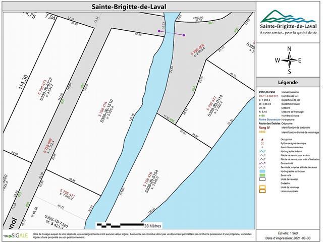 Lot for sale in Sainte-Brigitte-de-Laval, Capitale-Nationale, 28, Rue  Le Rossignol, 16444859 - Centris.ca