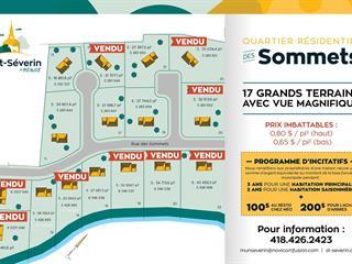 Lot for sale in Saint-Séverin (Chaudière-Appalaches), Chaudière-Appalaches, 13, Rue des Sommets, 12815091 - Centris.ca