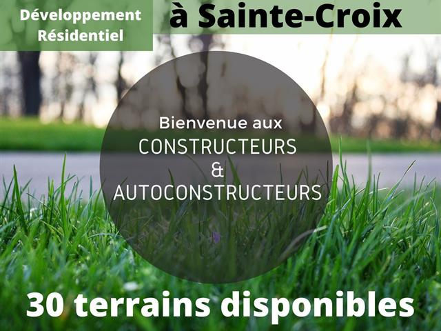 Terrain à vendre à Sainte-Croix, Chaudière-Appalaches, 290, Rue  Desrochers, 16109550 - Centris.ca