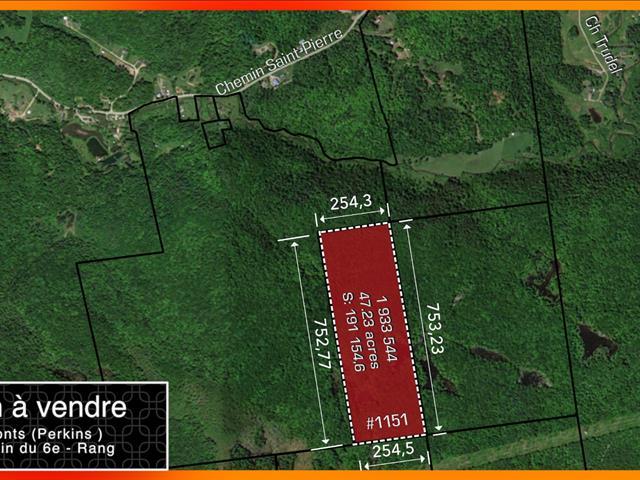 Terre à vendre à Val-des-Monts, Outaouais, 1151, Chemin du 6e-Rang, 23984892 - Centris.ca