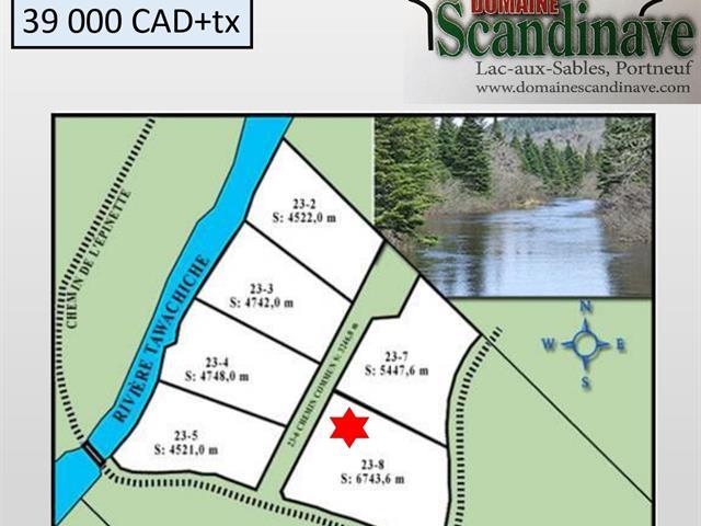 Terrain à vendre à Lac-aux-Sables, Mauricie, Chemin de l'Épinette, 15075430 - Centris.ca