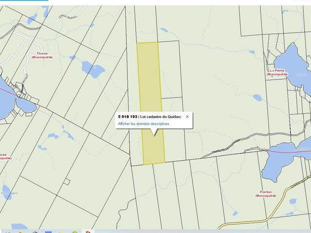 Land for sale in La Pêche, Outaouais, Chemin du Lac-Ruthledge, 14506331 - Centris.ca