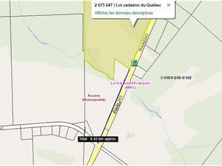 Lot for sale in Racine, Estrie, Route  243, 9186103 - Centris.ca