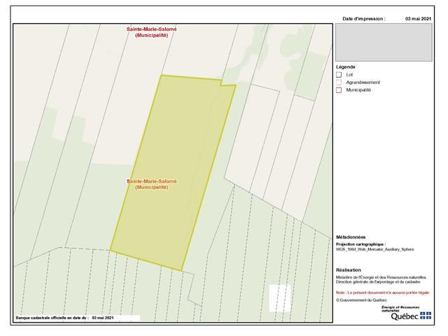 Terre à vendre à Sainte-Marie-Salomé, Lanaudière, Chemin  Montcalm, 14386647 - Centris.ca