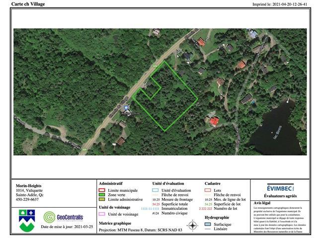 Terrain à vendre à Morin-Heights, Laurentides, Chemin du Village, 25355703 - Centris.ca