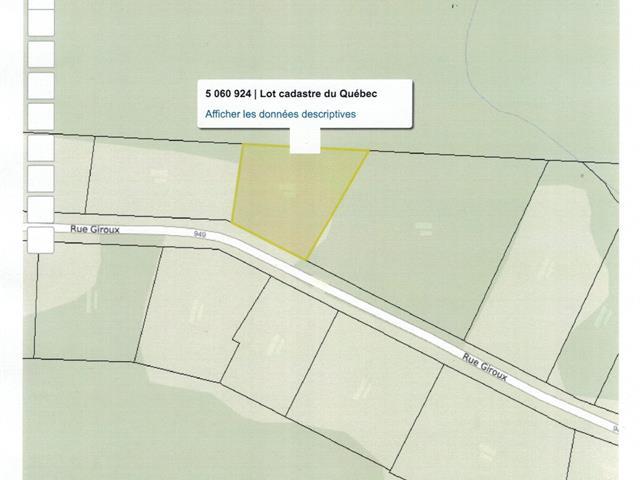 Lot for sale in Saint-René, Chaudière-Appalaches, Rue  Giroux, 15371003 - Centris.ca