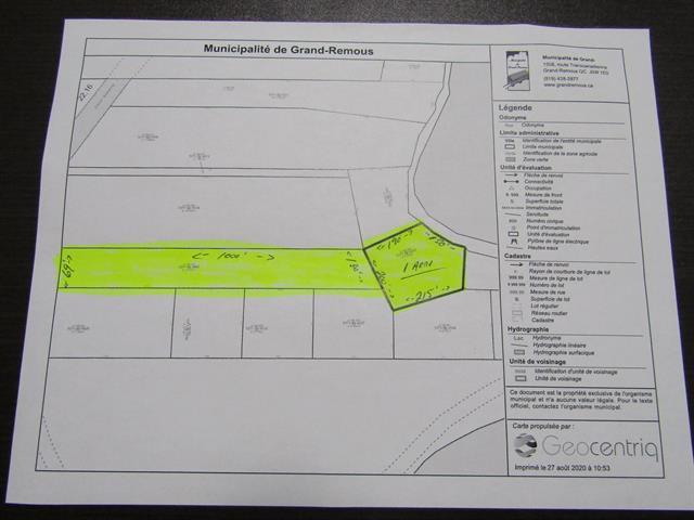 Terrain à vendre à Grand-Remous, Outaouais, Chemin  Anderson, 13482117 - Centris.ca