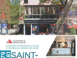 Commercial unit for rent in Montréal (Ville-Marie), Montréal (Island), 1681, Rue  Saint-Denis, 16940171 - Centris.ca