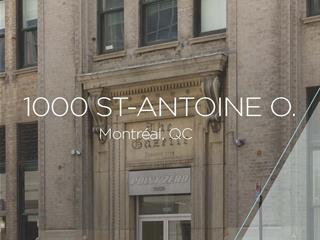 Local commercial à louer à Montréal (Ville-Marie), Montréal (Île), 1000, Rue  Saint-Antoine Ouest, local 700, 24609051 - Centris.ca