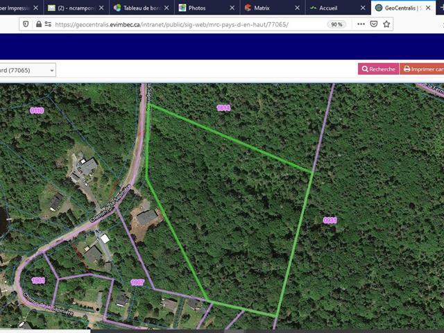Terrain à vendre à Saint-Adolphe-d'Howard, Laurentides, Chemin de la Sapinière, 11193501 - Centris.ca