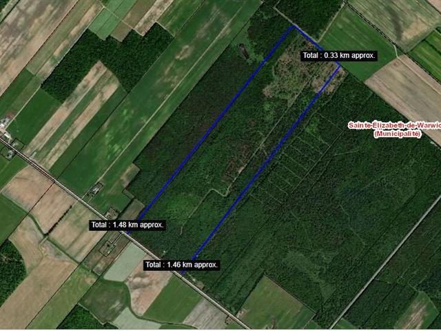 Terre à vendre à Sainte-Élizabeth-de-Warwick, Centre-du-Québec, 12e Rang, 9676666 - Centris.ca