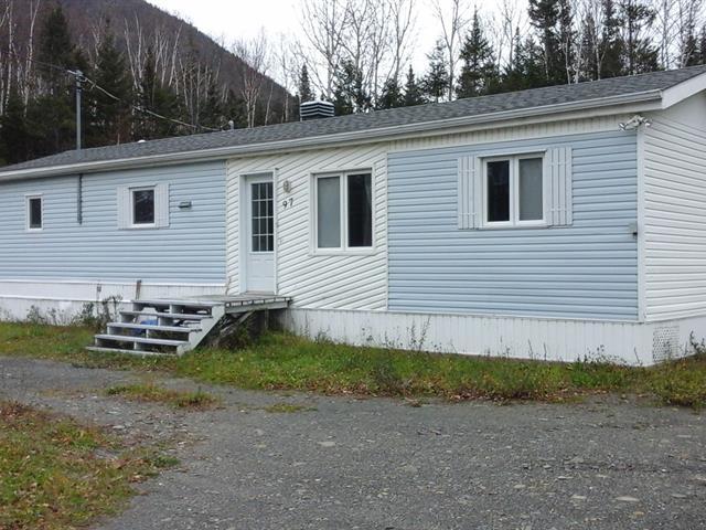 Maison mobile à vendre à Rivière-à-Claude, Gaspésie/Îles-de-la-Madeleine, 97, Route  Auclair, 13483133 - Centris.ca