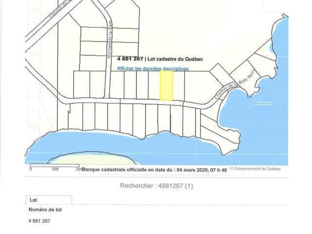 Lot for sale in Taschereau, Abitibi-Témiscamingue, Chemin de la Baie-Noire, 28540624 - Centris.ca