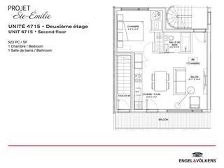 Condo / Appartement à louer à Montréal (Le Sud-Ouest), Montréal (Île), 4715, Rue  Sainte-Émilie, 26097841 - Centris.ca