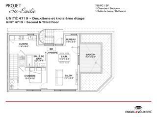 Condo / Apartment for rent in Montréal (Le Sud-Ouest), Montréal (Island), 4719, Rue  Sainte-Émilie, 14963951 - Centris.ca