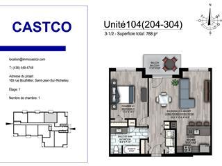 Condo / Appartement à louer à Saint-Jean-sur-Richelieu, Montérégie, 165, Rue  Bouthillier Nord, app. 304, 25565575 - Centris.ca