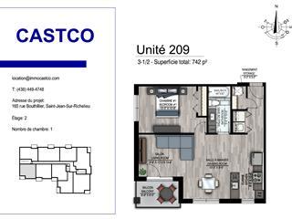 Condo / Appartement à louer à Saint-Jean-sur-Richelieu, Montérégie, 174, Rue  Collin, app. 209, 27995343 - Centris.ca