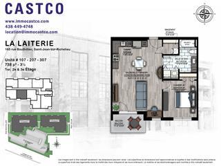 Condo / Appartement à louer à Saint-Jean-sur-Richelieu, Montérégie, 174, Rue  Collin, app. 107, 14853968 - Centris.ca