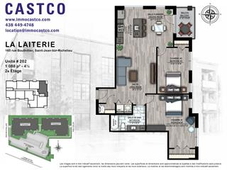 Condo / Appartement à louer à Saint-Jean-sur-Richelieu, Montérégie, 165, Rue  Bouthillier Nord, app. 202, 28376502 - Centris.ca
