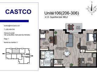 Condo / Appartement à louer à Saint-Jean-sur-Richelieu, Montérégie, 174, Rue  Collin, app. 206, 19049561 - Centris.ca