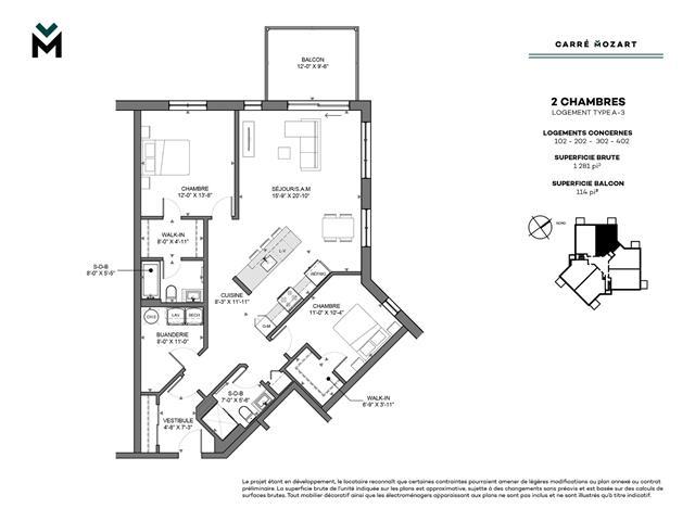 Condo / Apartment for rent in Lévis (Desjardins), Chaudière-Appalaches, 1600, Rue  Mozart, apt. 102, 17043563 - Centris.ca