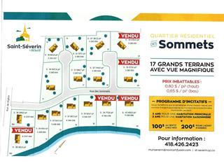 Terrain à vendre à Saint-Séverin (Chaudière-Appalaches), Chaudière-Appalaches, 12, Rue des Sommets, 11124968 - Centris.ca