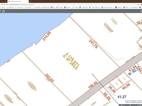 Terrain à vendre à L'Islet, Chaudière-Appalaches, Chemin des Pionniers Ouest, 24533330 - Centris.ca