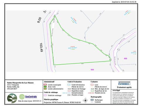Lot for sale in Sainte-Marguerite-du-Lac-Masson, Laurentides, Rue des Cimes, 13288655 - Centris.ca