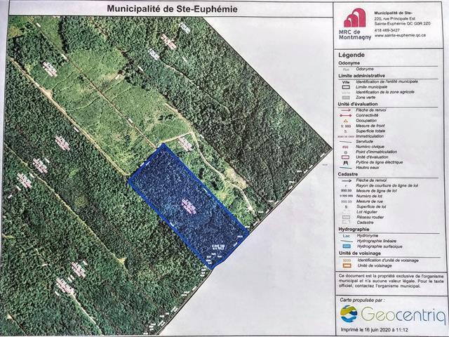 Land for sale in Sainte-Euphémie-sur-Rivière-du-Sud, Chaudière-Appalaches, Rang  Sainte-Anne Est, 24604377 - Centris.ca