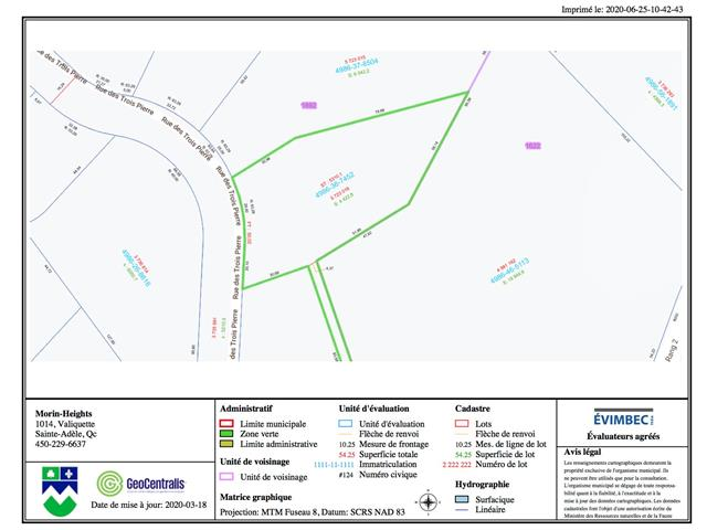 Lot for sale in Morin-Heights, Laurentides, Rue des Trois-Pierre, 22560877 - Centris.ca
