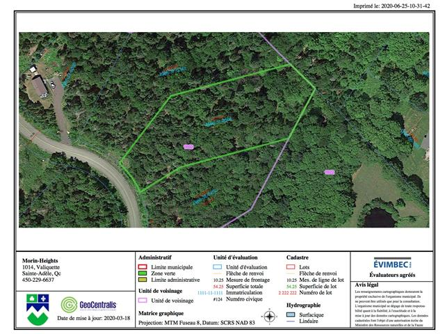 Lot for sale in Morin-Heights, Laurentides, Rue des Trois-Pierre, 17387866 - Centris.ca