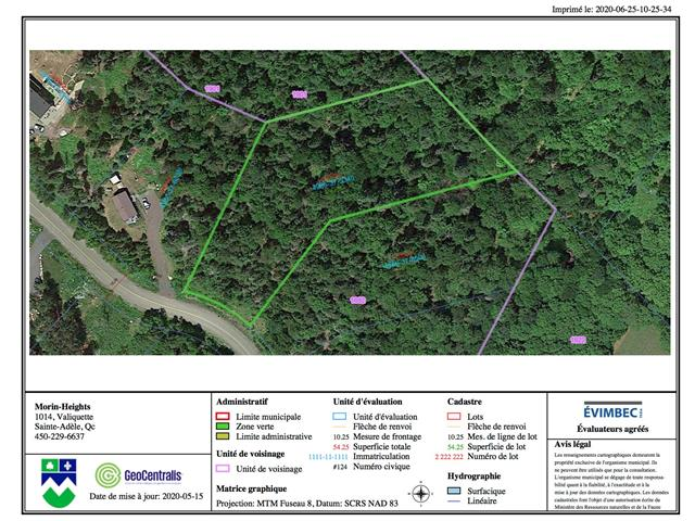 Lot for sale in Morin-Heights, Laurentides, Rue des Trois-Pierre, 24477934 - Centris.ca