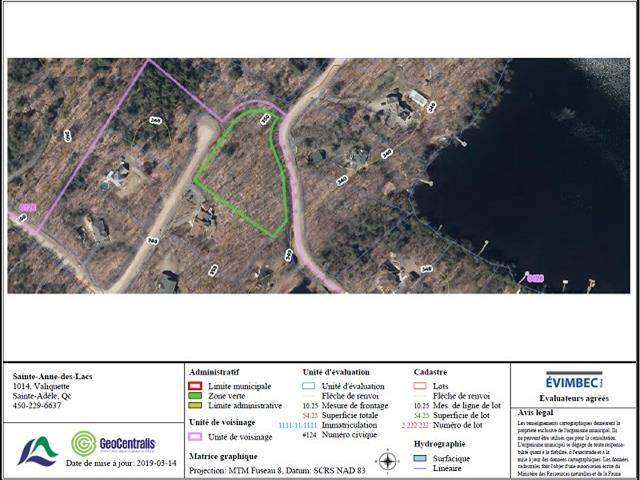 Lot for sale in Sainte-Anne-des-Lacs, Laurentides, Chemin des Otaries, 28494793 - Centris.ca