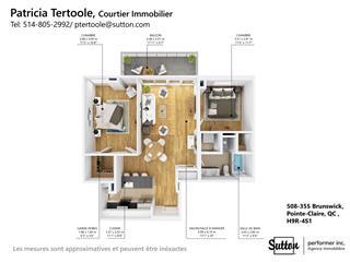 Condo / Appartement à louer à Pointe-Claire, Montréal (Île), 355, boulevard  Brunswick, app. 508, 10436348 - Centris.ca