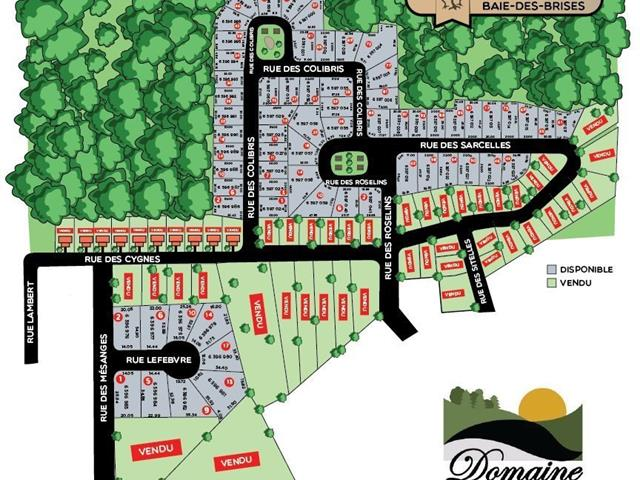 Terrain à vendre à Saint-Stanislas-de-Kostka, Montérégie, 54, Rue des Sarcelles, 13523597 - Centris.ca