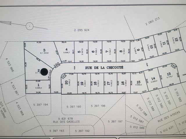 Terrain à vendre à Lévis (Les Chutes-de-la-Chaudière-Est), Chaudière-Appalaches, 1196, Rue de la Chicouté, 24551461 - Centris.ca